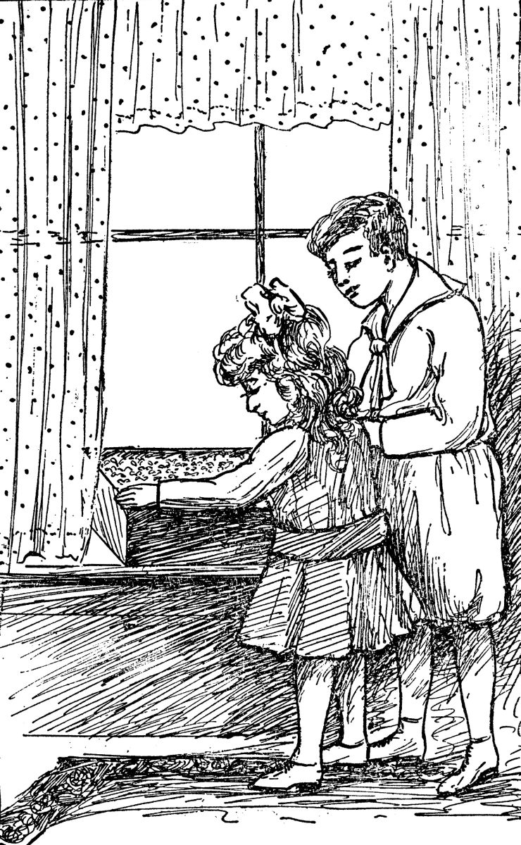 The Project Gutenberg eBook of Daddy Takes Us to the Garden