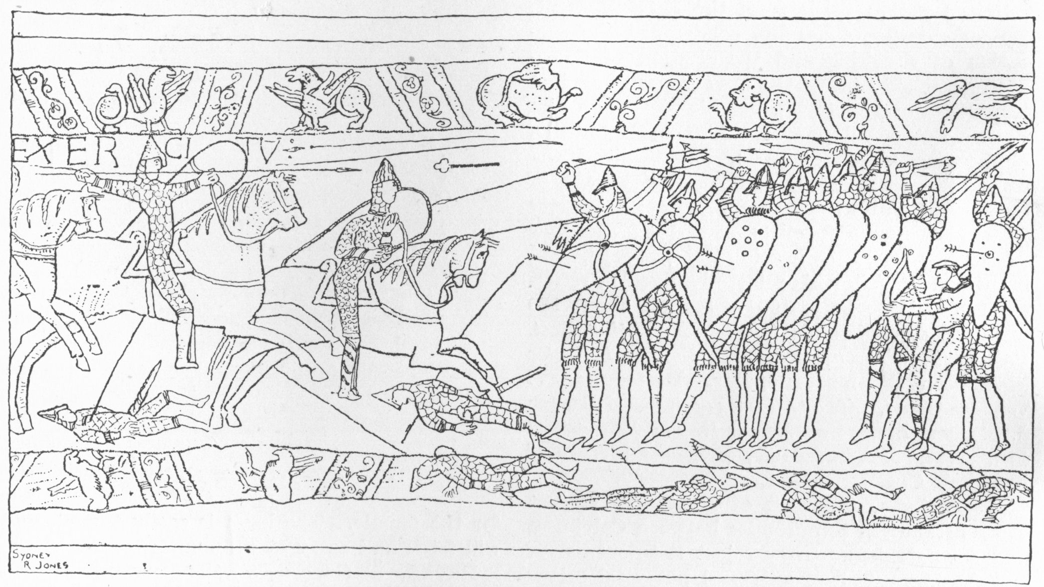 The New Gresham Encyclopedia Volume I Part 3 Bayeux Tapestry Colouring Pages