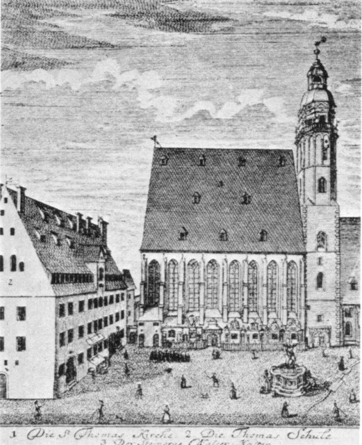 The Church and School of St. Thomas, Leipzig, in 1723.