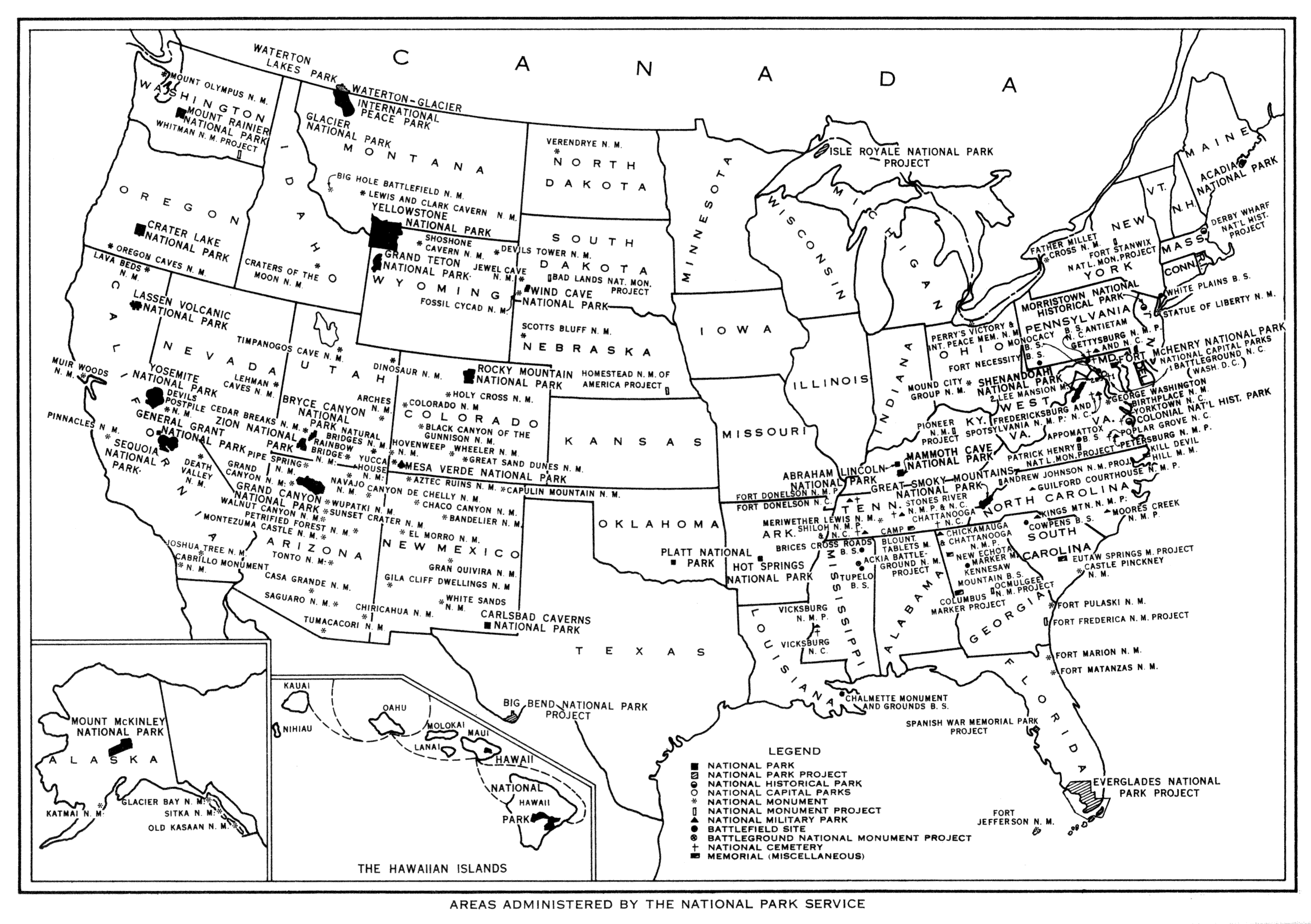 Coloring Page Us National Forest Map