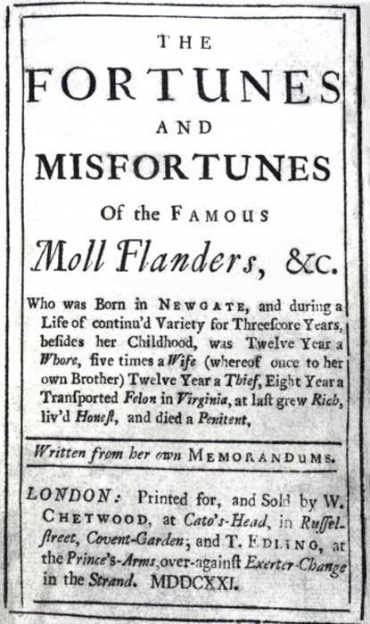 The Fortunes and Misfortunes of the Famous Moll Flanders by