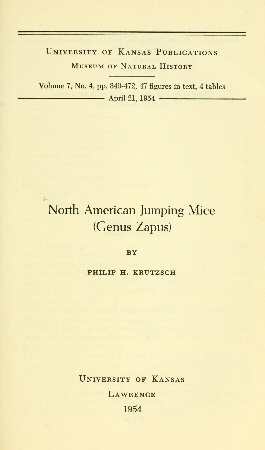 The Project Gutenberg eBook of North American Jumping Mice