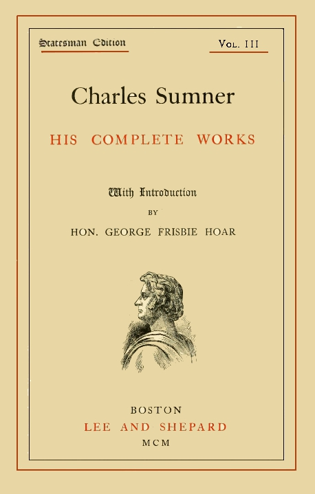 The Project Gutenberg eBook of Charles Sumner