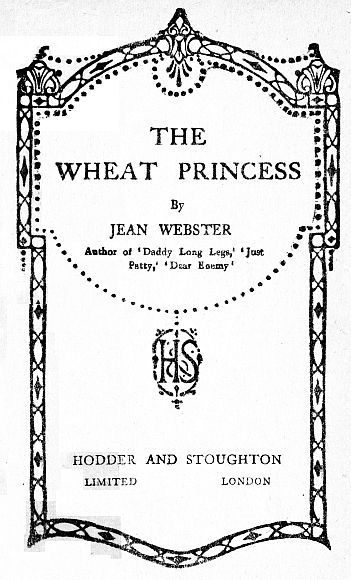 The Project Gutenberg eBook of The Wheat Princess by Jean