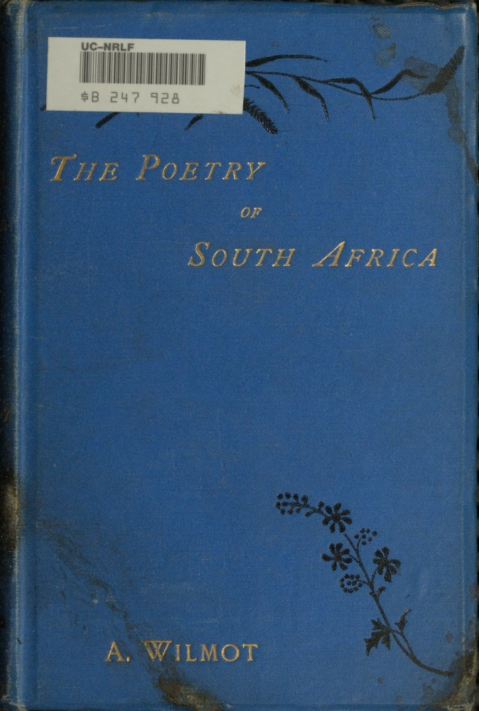 The Project Gutenberg eBook of The Poetry of South Africa
