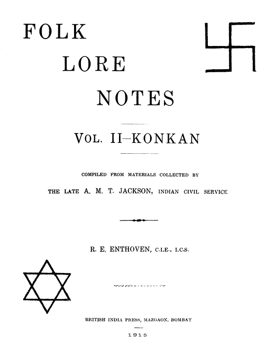 Folklore Notes  Vol  II Konkan