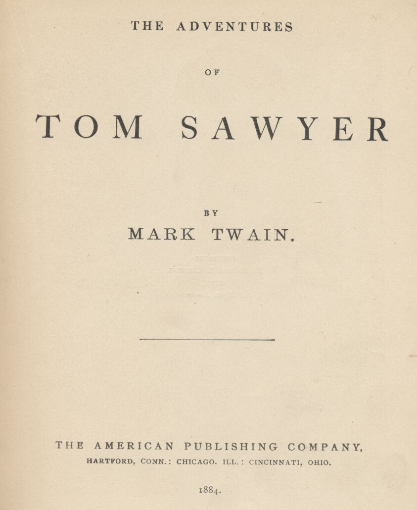 ADVENTURES OF TOM SAWYER, By Twain, Complete